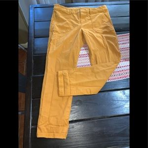 Old navy pixie mustard ankle pants Sz 10